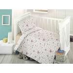 Lenjerie de pat pentru copii Oursson Bedora, 100%  bumbac,3 piese
