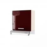 Dulap superior hota clasica 1 usa STYLE 60, Vizon, Bordo Gloss, maner PVC