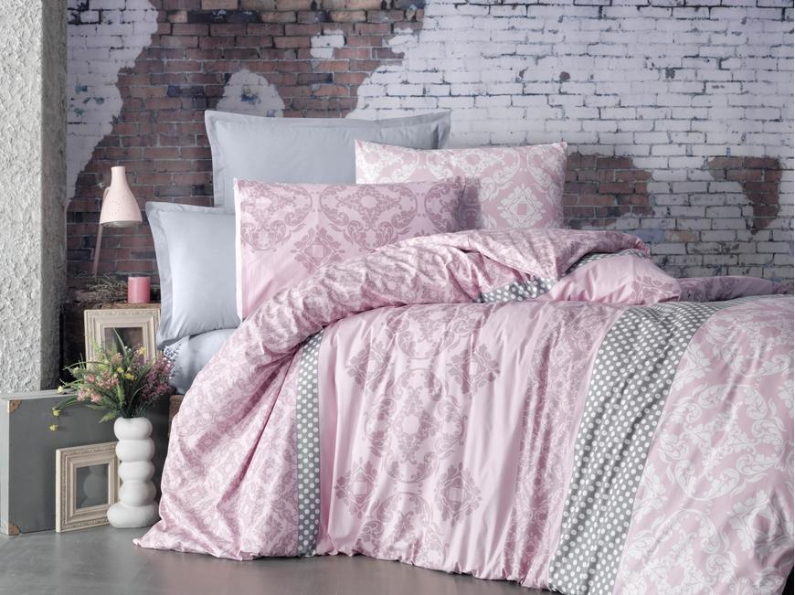 Lenjerie de pat pentru doua persoane, Paix Bedora, 100%  bumbac, 6 piese
