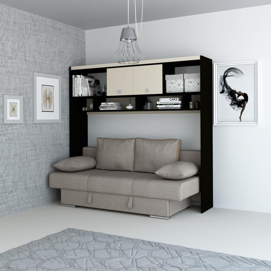 Dormitor pe colt NEVA, Wenge, Vizon, Etna