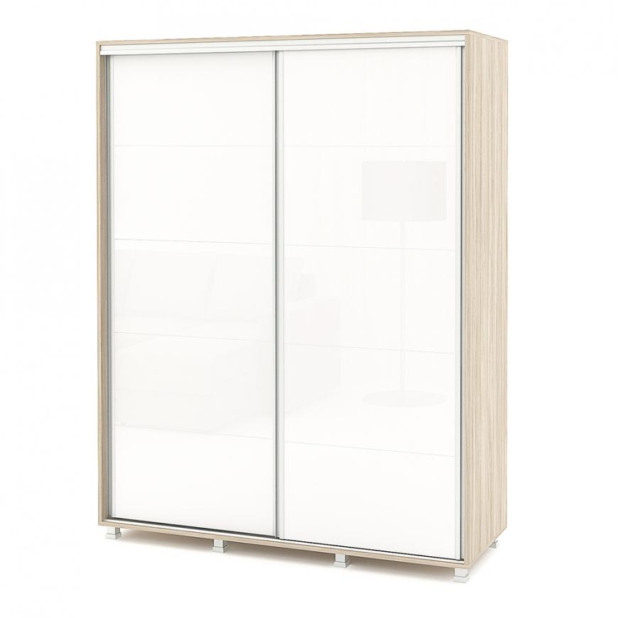 Dulap usi culisante LINEA Gloss 150cm, Oak, Alb Gloss