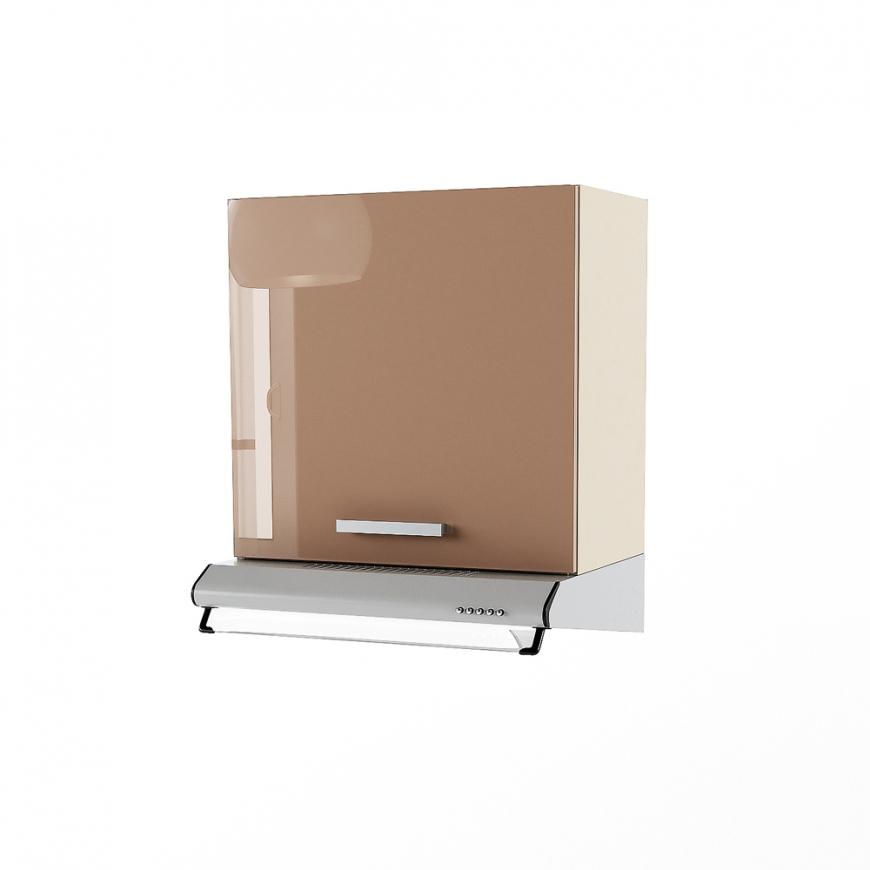 Dulap superior hota clasica 1 usa STYLE 60, Vizon, Cappuccino Gloss, maner PVC